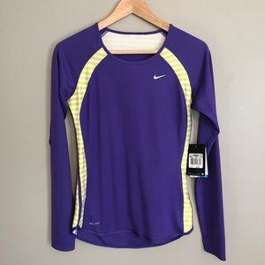 NWT Nike Dry Fit Long Sleeve Running Shirt